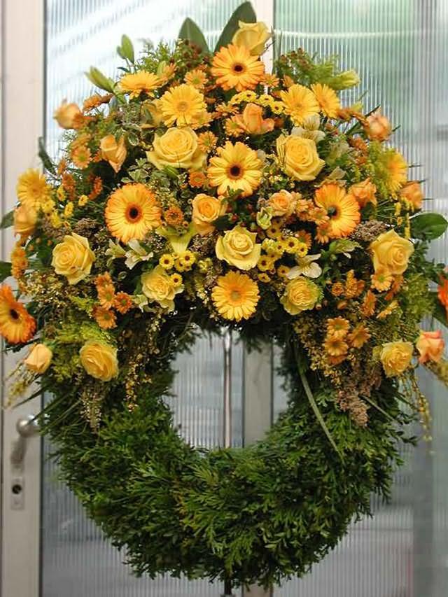 С чего плетут венки похоронные